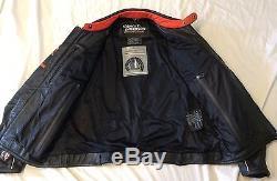 Harley Davidson Men Screamin Eagle Leather Jacket XL Raceway Screaming RARE