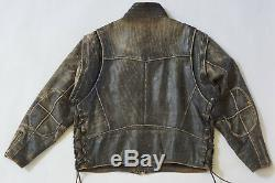 Harley Davidson Men Vintage 90's PANHEAD Convertible Black Leather Jacket Vest L