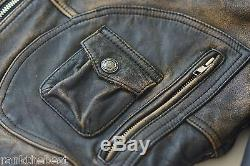 Harley Davidson Men Vintage 90's PANHEAD Convertible Brown Leather Jacket Vest L