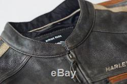 Harley Davidson Men's BOULEVARD Racing Distressed Leather Jacket XL 97170-13VM