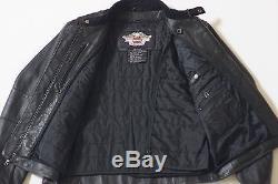 Harley Davidson Men's Bad Moon Bar&Shield Black Leather Jacket XL 97149-07VM