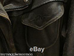 Harley Davidson Men's Billings Distressed Brown Leather Jacket Logo Sz Medium
