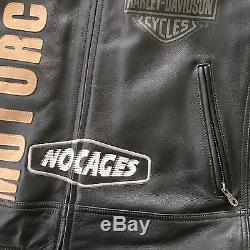 Harley Davidson Men's Leather Jacket size 2XL Tall -VERY COOL