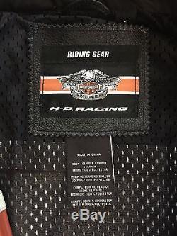 Harley Davidson Men's Leather Racing Jacket XL Screaming Eagle