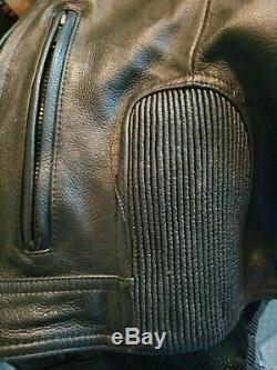 Harley Davidson Men's Milestone Reflective Black Leather Jacket 2X MINT
