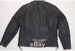 Harley Davidson Men's PANHEAD II 2 Convertible Leather Jacket Vest L-98023-12VM