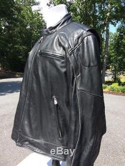 Harley Davidson Men's Reflective Skull Willie G Leather Jacket 3XL Tall 3XLT