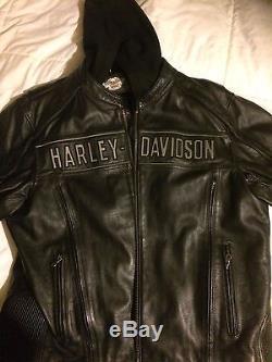 Harley Davidson Men's Road Warrior 3 in 1 Leather Jacket 2 XL 98138-09VM