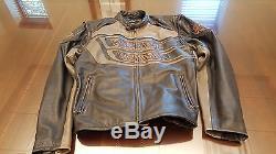 Harley Davidson Men's Rumble Colorblocked Black Leather Jacket XL