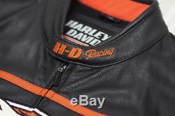 Harley Davidson Men's Screamin Eagle Leather Jacket 2XL Raceway 98226-06VM RARE
