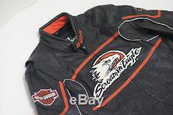 Harley Davidson Men's Screamin Eagle Leather Jacket XL Raceway 98226-06VM RARE