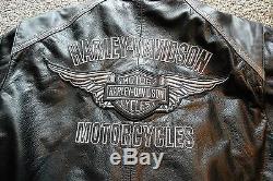 Harley-Davidson Men's Size 2XL CLASSIC CRUISER Leather Jacket 98140-10VM
