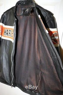 Harley Davidson Men's Thunder Hill Screamin Eagle Leather Jacket Large