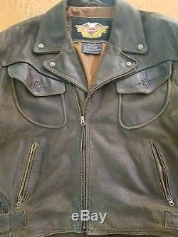 Harley Davidson Men's XXL Billings Distressed Leather Motorcycle Jacket