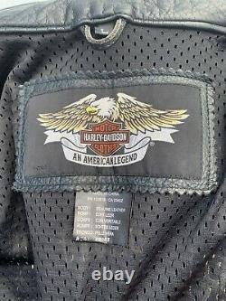 Harley Davidson Mens ROADWAY Leather Jacket Large 98015-10VM Black