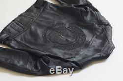 Harley Davidson Mens Reflective WillieG Skull Black Leather Jacket 98099-07VM XL