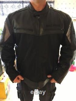 Harley Davidson Mens Rivage Black Leather & Mesh Jacket 3XL 97427-14VM EUC HTF