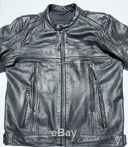 Harley Davidson Mens SOULESS Winged Skull Leather Jacket Large Willie G