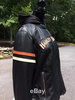 Harley Davidson Miss Enthusiast 3N1 Leather Jacket Women's 1W Black 98142-09VW