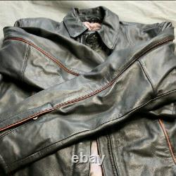 Harley-Davidson Motorcycle Womens Leather Riding Jacket Large