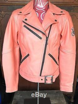 Harley Davidson Pink Leather Biker Motor Passion Diva Hot Jacket Women S Small