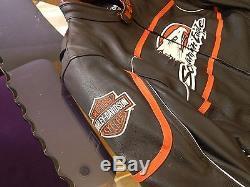 Harley Davidson Racing Men's Screamin' Eagle Leather Jacket XL