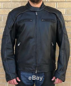 Harley Davidson Reflective Willie G Skull Black Leather Jacket 988099-07VM XL