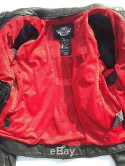 Harley Davidson Road Angel Black Leather Jacket Women's Medium Studded Wings
