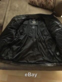 Harley Davidson Roadway Distressed Brown Leather Jacket Men's XL