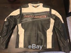 Harley Davidson SPROCKET Leather Jacket Men's Medium Perforated Racing