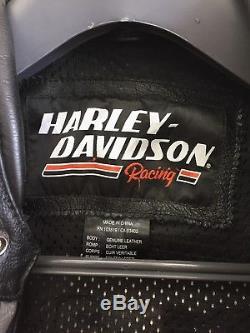 Harley Davidson Screamin Eagle Thunder Valley Leather Jacket Men's Large Armored