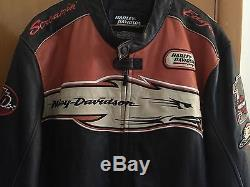 Harley Davidson Screamin Eagle Victory Lap 2XL Men's Leather Jacket Motorcycle