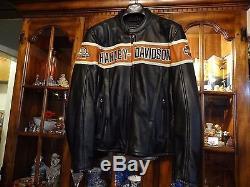 Harley Davidson Thunder Hill Screamin Eagle Leather Jacket Mens Large 98296-08VM