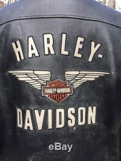 Harley Davidson Top Wing Distressed Leather Jacket Men's 3XL 98058-13VM
