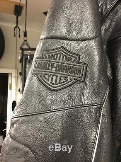 Harley Davidson Willie G Reflective Skull Leather Jacket 98099-07VM Mens 2XL