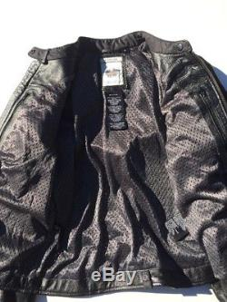 Harley Davidson Willie G Reflective Skull Women's Leather Jacket Small Black