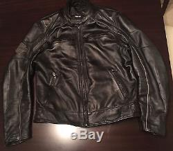 Harley Davidson Willie G Reflective Skull leather jacket Size L