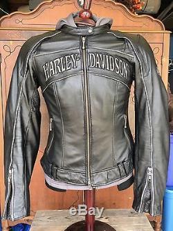 Leather Hoodie Jacket