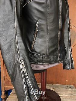 Harley Davidson Women Reflective Willie G Skull Leather Jacket 3in1 98152-09VW M