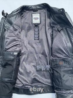 Harley Davidson Women Reflective Willie G Skull Leather Jacket 98152-09VW Large