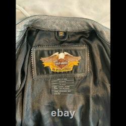 Harley Davidson Women's Leather Riding Biker Jacket Size Medium