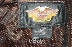Harley Davidson Women's Leather Riding Jacket Size XXL 2XL EXCELLENT