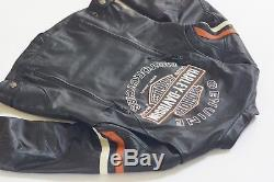 Harley Davidson Women's Miss Enthusiast B&S Black Leather Jacket 98142-09VW M