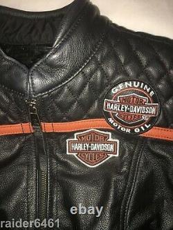Harley Davidson Women's Miss Enthusiast Triple Vent Leather Jacket 98134-17VW M