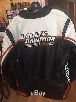 Harley Davidson Women's RACEWAY Screamin' Eagle Leather Jacket L 98226-06VW MINT