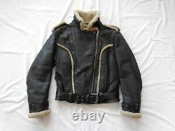 Harley-Davidson Women's Shearling Leather Jacket Vintage Size Small