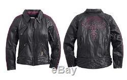 Harley-Davidson Women's Starwood Leather Jacket (2W) and Chaps (XL)