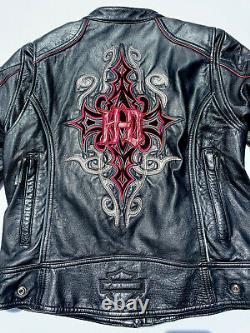 Harley Davidson Womens BARCHETTA 3N1 Leather Jacket 1W Tribal 97169-10VW Hoodie