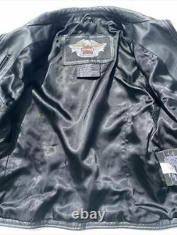Harley-Davidson Womens ISIS Eagle Black Leather Jacket Medium
