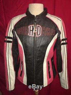 Harley-Davidson Womens Ladies Ridgeway Leather Jacket Sz. L 97000-14VW
